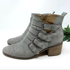 Lucky Brand Loreniah Suede Buckle Ankle Boot 8